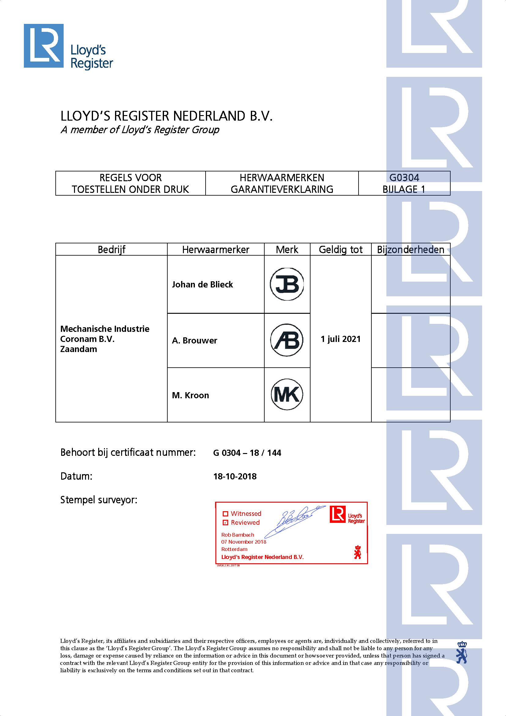 Mechanische Industrie Coronam BV Certificaat G0304 18-10-2018_Pagina_2